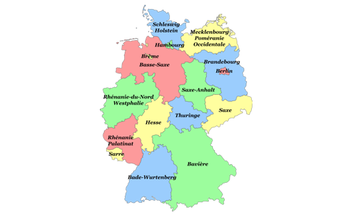 Carte Allemagne Avec Regions.Lander Ou Regions Association Franco Allemande Fafa