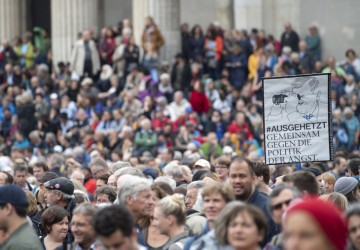 Protest against policy of the CSU party in Munich